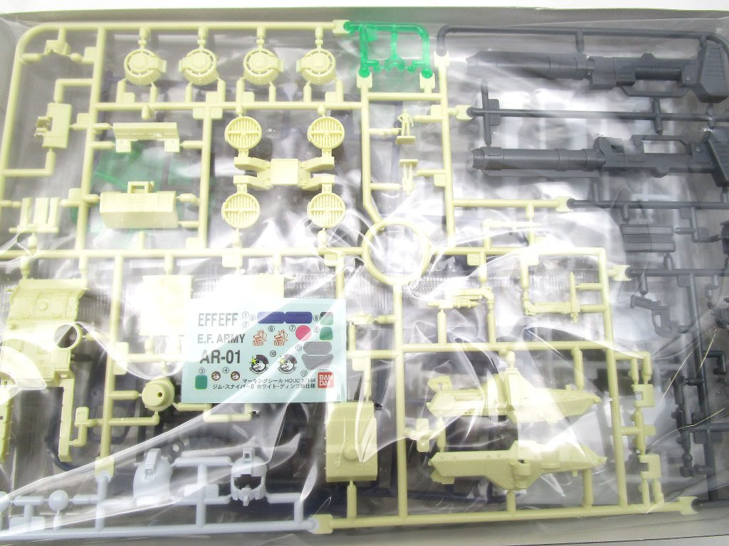 バンダイ 1/144 HG ジム・スナイパーⅡ ホワイト・ディンゴ隊仕様のパーツ内容