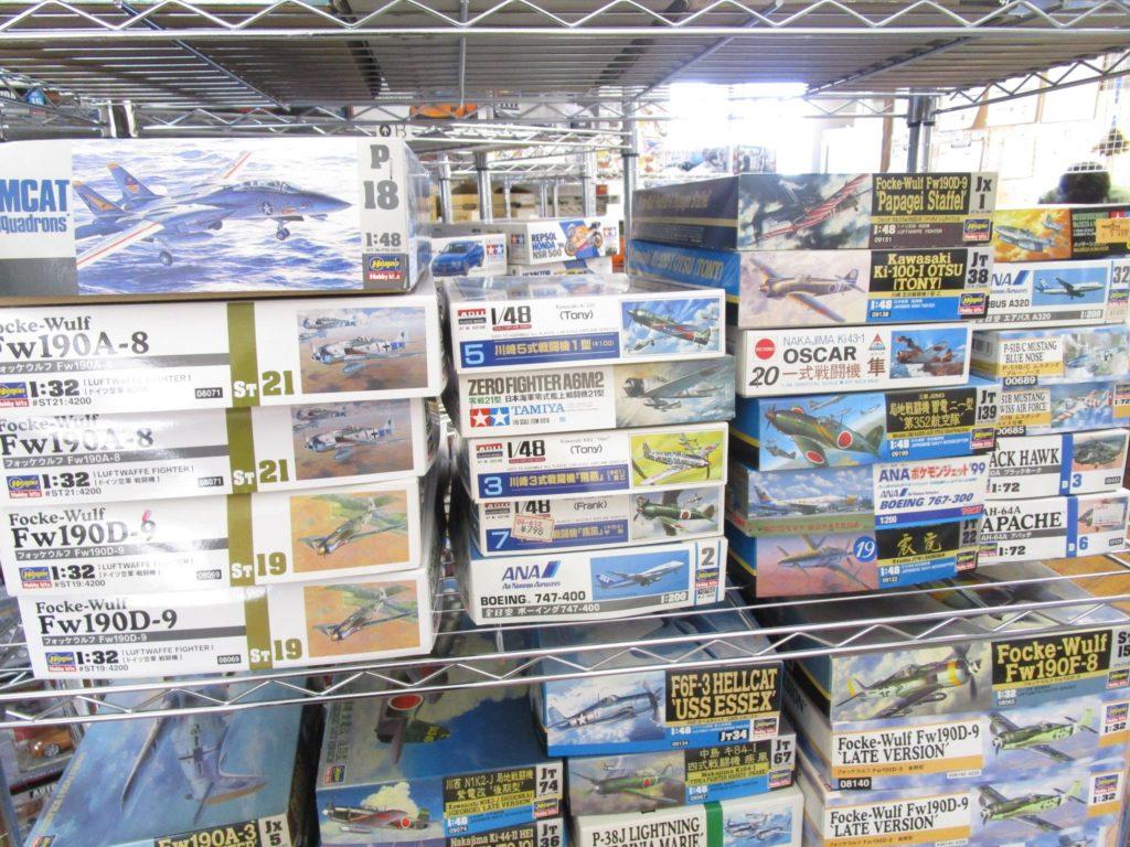 ハセガワトムキャットやニチモ、アリイなどの戦闘機各種