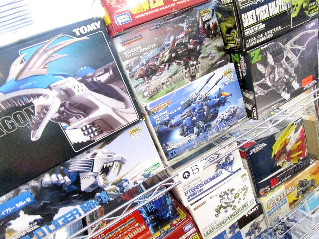 新旧ゾイドが多数揃ったコレクション