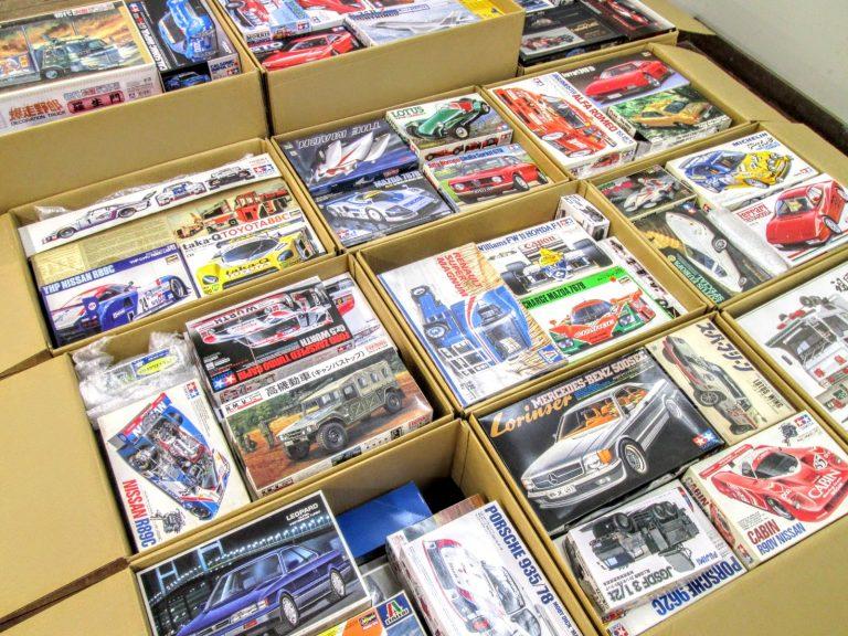 200点以上のスーパーカーやF1カー等のプラモデルを埼玉県より買取り頂きました!