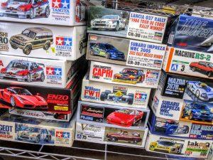 タミヤフォードザクスピードや三菱パジェロなどのカーモデル