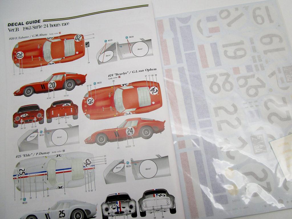 MFH 1/12 フェラーリ250GTO1962 説明書
