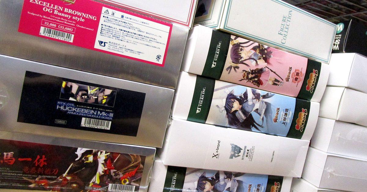 兵庫県より、VOLKSやコトブキヤなどのガレージキットを買取頂きました!
