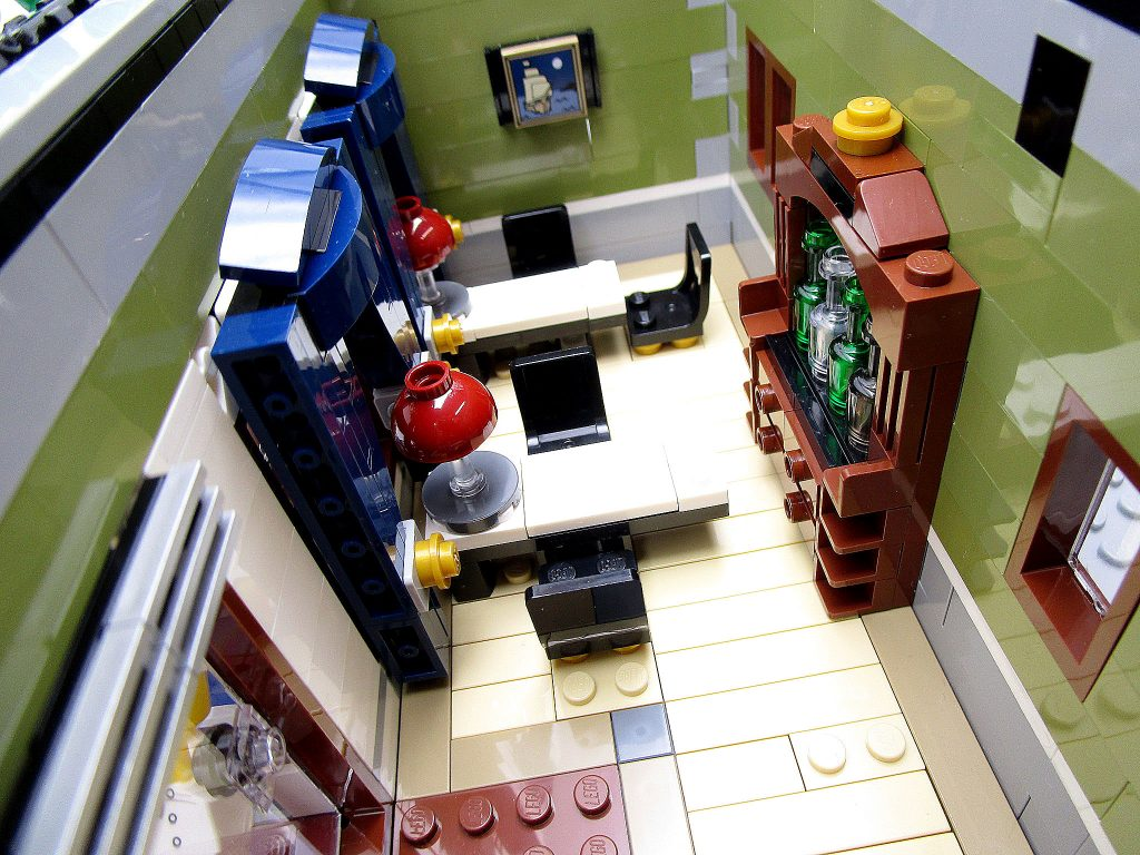 LEGO クリエイター 10243 パリのレストラン レストラン店内