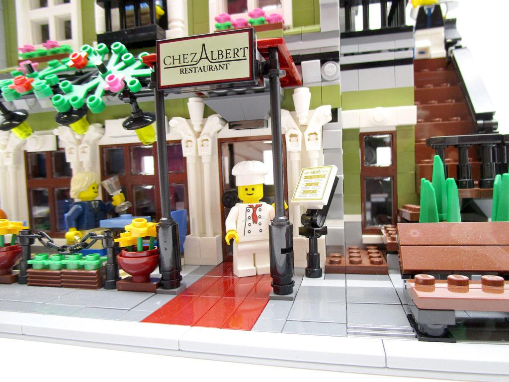 LEGO クリエイター 10243 パリのレストラン シェフとレストラン