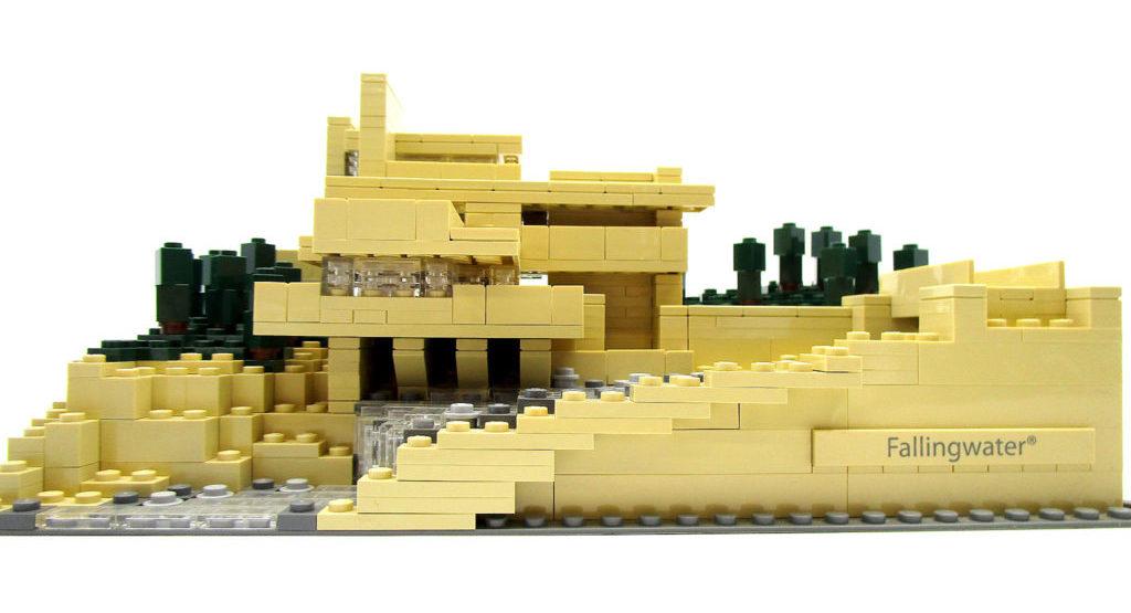 LEGO アーキテクチャー 21005 落水荘 カウフマン邸 正面