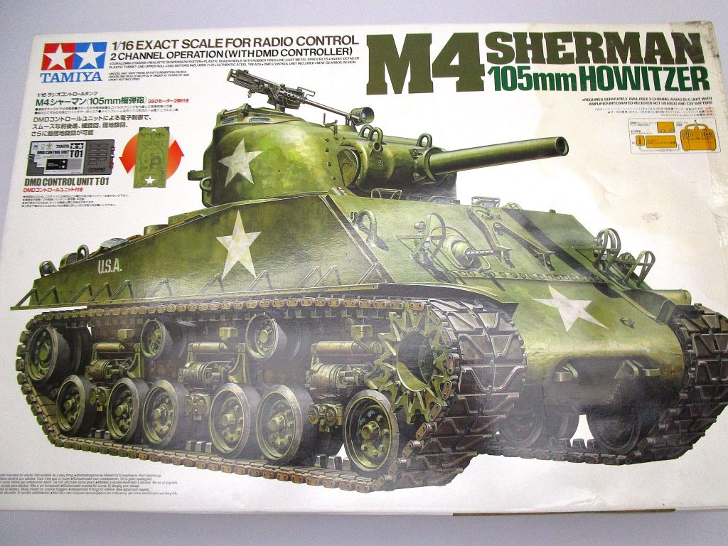 タミヤ 1/16 M4シャーマン 105mm榴弾砲 RCタンク