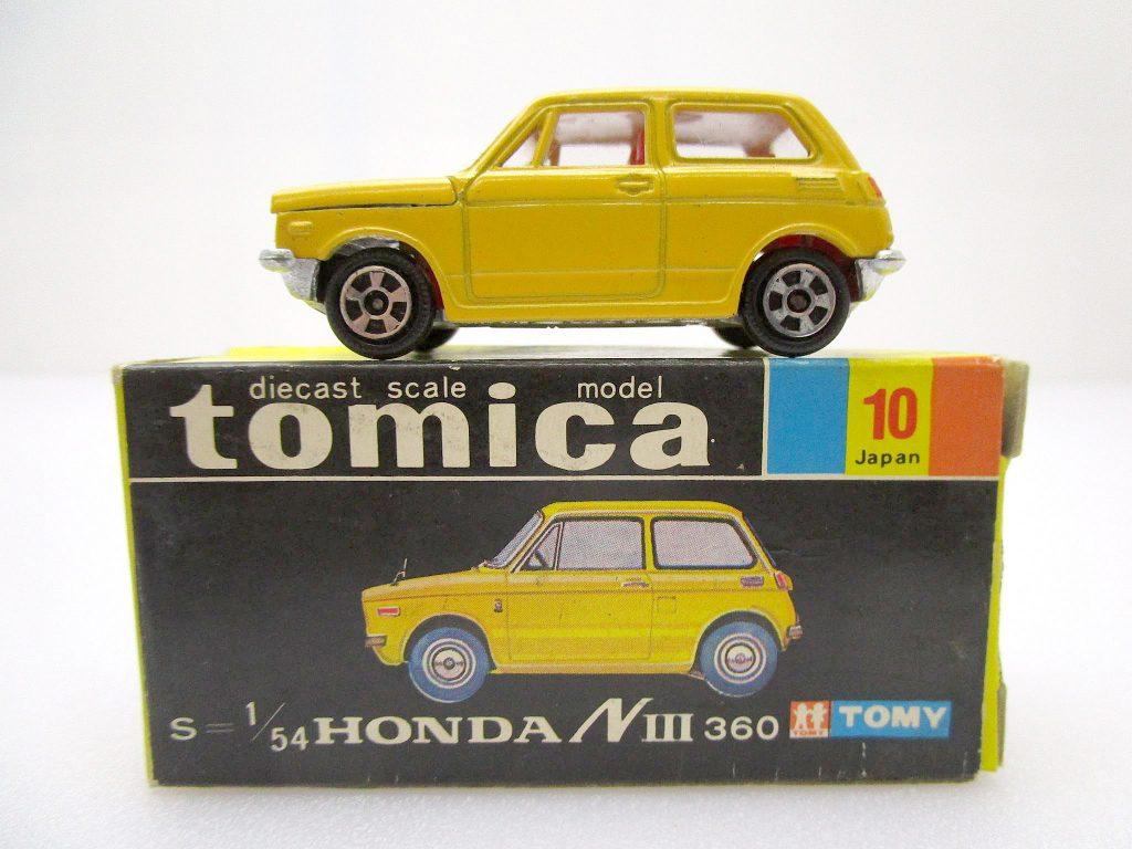 トミカ 10 ホンダ NⅢ360 ホンコン 黄色