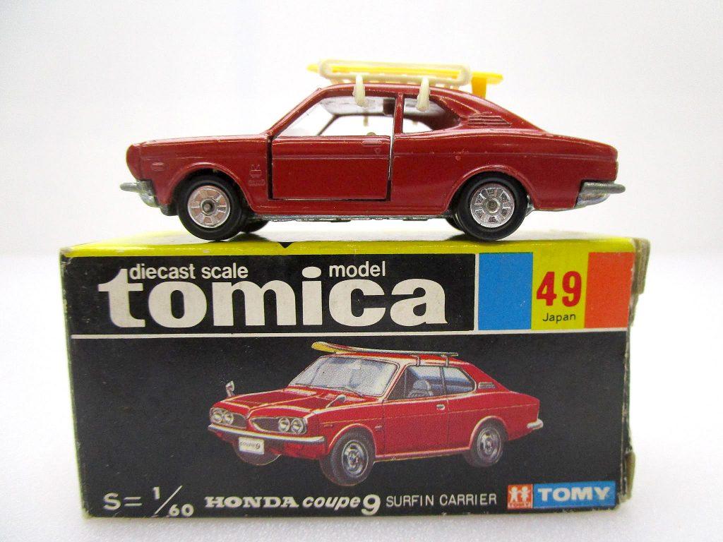 トミカ 49 ホンダ クーペ9 サーフィンキャリア