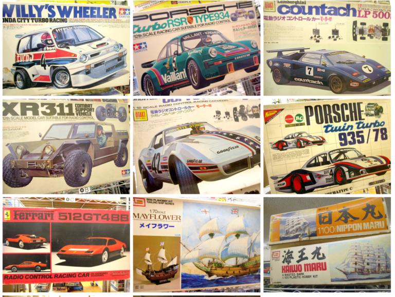 愛媛県より、タミヤ 1/12 ポルシェターボRSR等の貴重なラジコンや模型を買取頂きました!