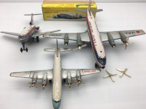 古いブリキの航空機 ボーイング727/ダグラスDC-7C