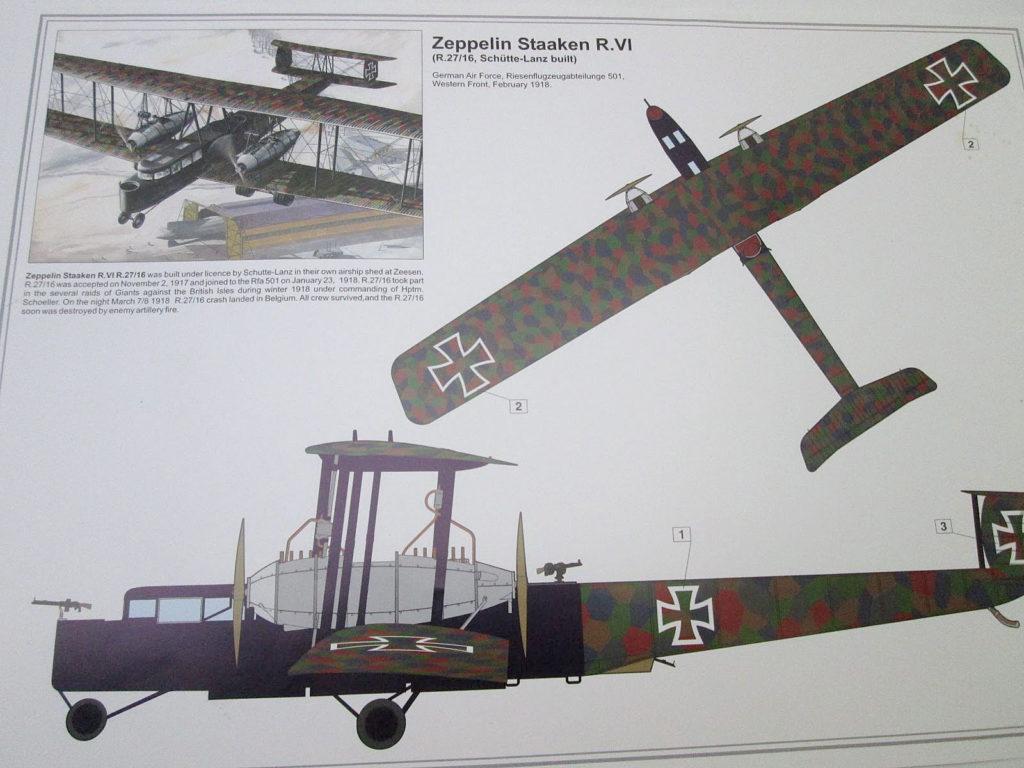 ローデン 1/72 ツェッペリンシュターケンR.IV 機体塗装図