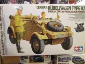 タミヤ 1/16 Pkw.K1 キューベルワーゲン 82型 アフリカ仕様 ロンメル元帥付き