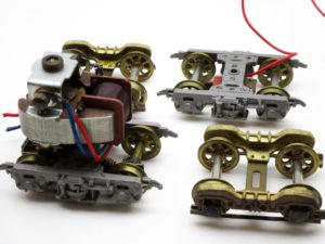Oゲージ 組立て途中のキットやモーターなど 台車